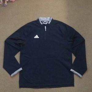 Black Men's Adidas Baseball Convertible Jacket
